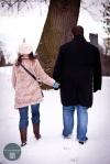 Couple walking away hand in hand