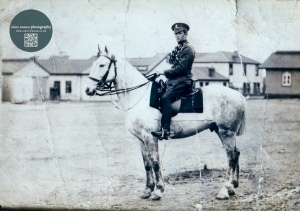 He lied to the army so he could sign up for the First War. His is him on his horse when he was between 14-18 years old.